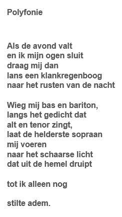 Gedicht Polyfonie